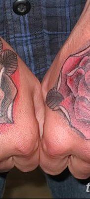 Фото тату красная роза от 08.08.2018 №137 – red rose tattoo – tatufoto.com