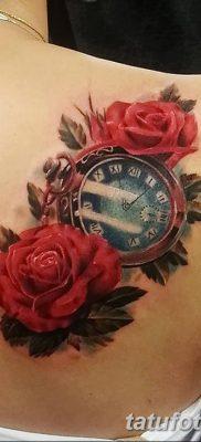 Фото тату красная роза от 08.08.2018 №138 – red rose tattoo – tatufoto.com