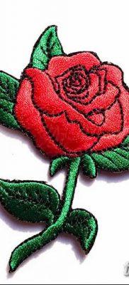 Фото тату красная роза от 08.08.2018 №141 – red rose tattoo – tatufoto.com