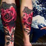Фото тату красная роза от 08.08.2018 №146 - red rose tattoo - tatufoto.com