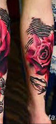 Фото тату красная роза от 08.08.2018 №146 – red rose tattoo – tatufoto.com