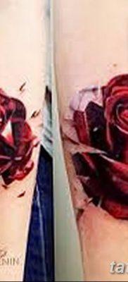 Фото тату красная роза от 08.08.2018 №152 – red rose tattoo – tatufoto.com