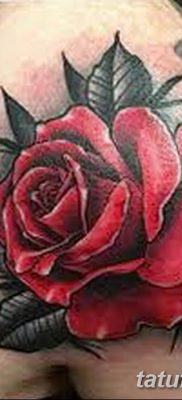 Фото тату красная роза от 08.08.2018 №153 – red rose tattoo – tatufoto.com