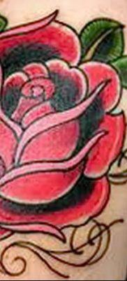 Фото тату красная роза от 08.08.2018 №154 – red rose tattoo – tatufoto.com