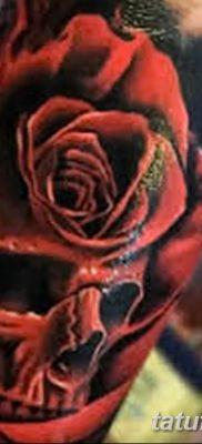 Фото тату красная роза от 08.08.2018 №156 – red rose tattoo – tatufoto.com
