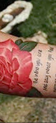 Фото тату красная роза от 08.08.2018 №157 – red rose tattoo – tatufoto.com