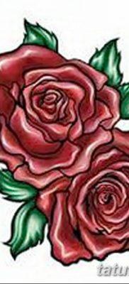 Фото тату красная роза от 08.08.2018 №158 – red rose tattoo – tatufoto.com