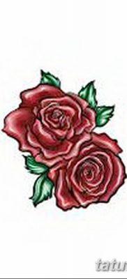 Фото тату красная роза от 08.08.2018 №161 – red rose tattoo – tatufoto.com