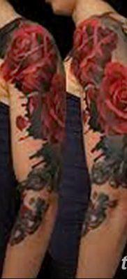 Фото тату красная роза от 08.08.2018 №162 – red rose tattoo – tatufoto.com