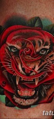 Фото тату красная роза от 08.08.2018 №163 – red rose tattoo – tatufoto.com