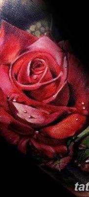 Фото тату красная роза от 08.08.2018 №164 – red rose tattoo – tatufoto.com