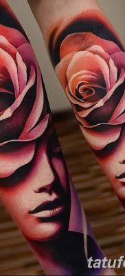Фото тату красная роза от 08.08.2018 №165 – red rose tattoo – tatufoto.com