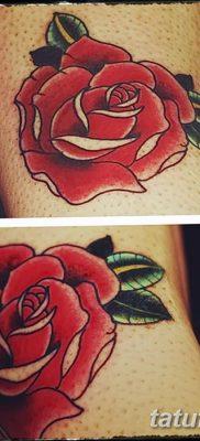 Фото тату красная роза от 08.08.2018 №168 – red rose tattoo – tatufoto.com