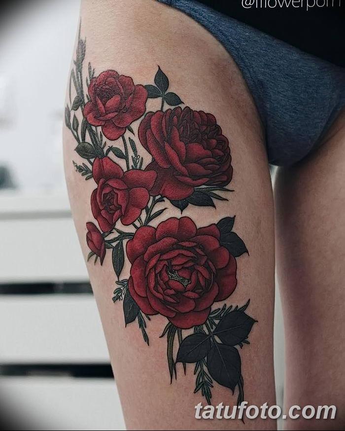 Фото тату красная роза от 08.08.2018 №215 - red rose tattoo - tatufoto.com