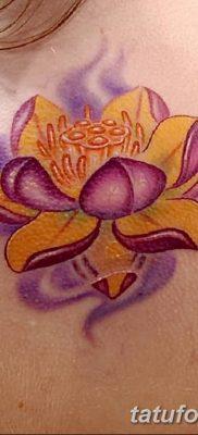 Фото тату лотос для девушки от 07.08.2018 №170 – lotus tattoo for girl – tatufoto.com