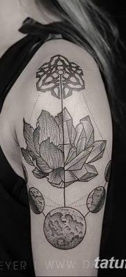 Фото тату лотос для девушки от 07.08.2018 №198 – lotus tattoo for girl – tatufoto.com
