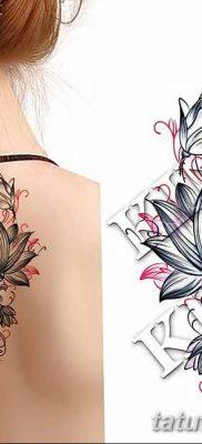 Фото тату лотос для девушки от 07.08.2018 №205 – lotus tattoo for girl – tatufoto.com