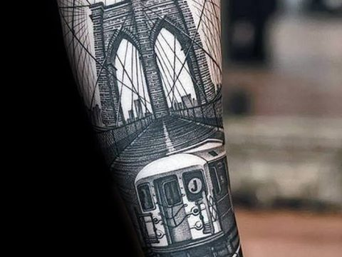 Фото тату мост 25.08.2018 №160 - bridge tattoo - tatufoto.com