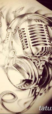 Фото тату наушники 28.08.2018 №008 – tattoo headphones – tatufoto.com