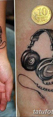 Фото тату наушники 28.08.2018 №018 – tattoo headphones – tatufoto.com