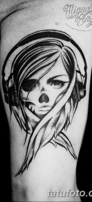 Фото тату наушники 28.08.2018 №029 – tattoo headphones – tatufoto.com