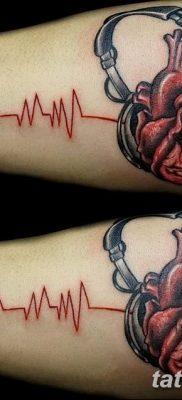 Фото тату наушники 28.08.2018 №051 – tattoo headphones – tatufoto.com
