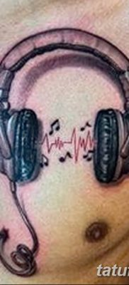 Фото тату наушники 28.08.2018 №058 – tattoo headphones – tatufoto.com