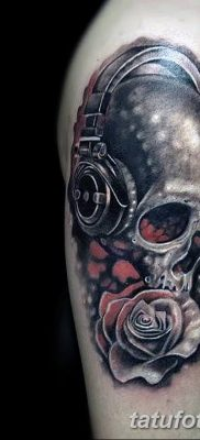 Фото тату наушники 28.08.2018 №122 – tattoo headphones – tatufoto.com