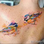 Фото тату птицы для девушек от 07.08.2018 №013 - bird tattoo for girls - tatufoto.com