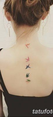 Фото тату птицы для девушек от 07.08.2018 №040 – bird tattoo for girls – tatufoto.com