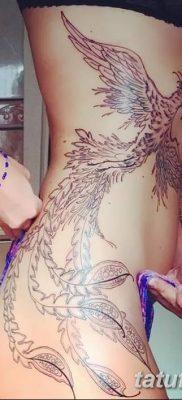 Фото тату птицы для девушек от 07.08.2018 №047 – bird tattoo for girls – tatufoto.com