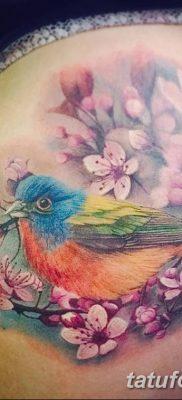 Фото тату птицы для девушек от 07.08.2018 №051 – bird tattoo for girls – tatufoto.com