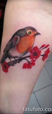 Фото тату птицы для девушек от 07.08.2018 №052 – bird tattoo for girls – tatufoto.com