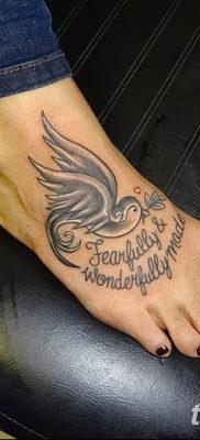 Фото тату птицы для девушек от 07.08.2018 №082 – bird tattoo for girls – tatufoto.com
