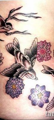 Фото тату птицы для девушек от 07.08.2018 №095 – bird tattoo for girls – tatufoto.com