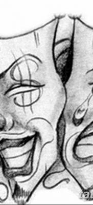 Фото тату смейся сейчас плач потом 17.08.2018 №012 – Smile now cry later – tatufoto.com