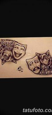 Фото тату смейся сейчас плач потом 17.08.2018 №031 – Smile now cry later – tatufoto.com