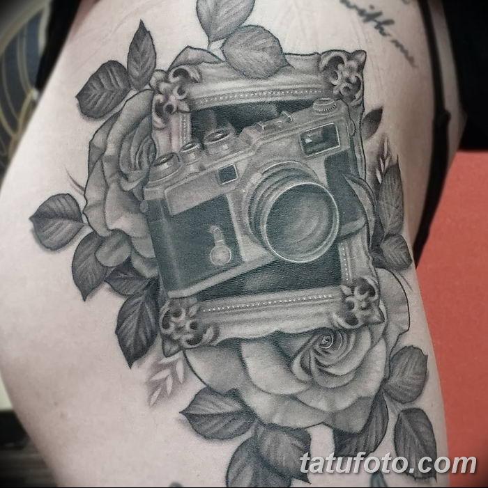 Фото тату фотоаппарат от 03.08.2018 №191 - tattoo photo camera - tatufoto.com