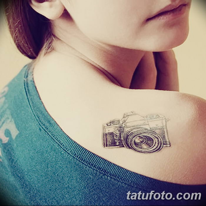 Фото тату фотоаппарат от 03.08.2018 №194 - tattoo photo camera - tatufoto.com