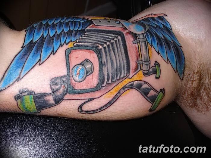 Фото тату фотоаппарат от 03.08.2018 №204 - tattoo photo camera - tatufoto.com
