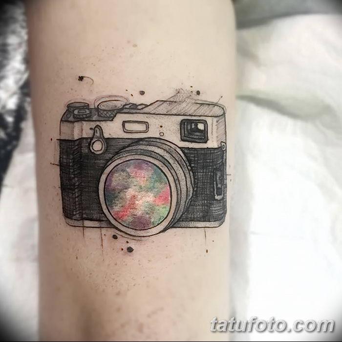 Фото тату фотоаппарат от 03.08.2018 №212 - tattoo photo camera - tatufoto.com