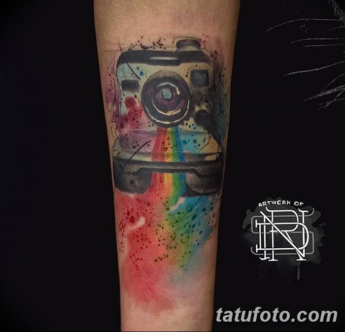 Фото тату фотоаппарат от 03.08.2018 №219 - tattoo photo camera - tatufoto.com