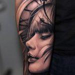 Фото черно-белые тату от 08.08.2018 №048 - black and white tattoos - tatufoto.com