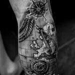 Фото черно-белые тату от 08.08.2018 №251 - black and white tattoos - tatufoto.com