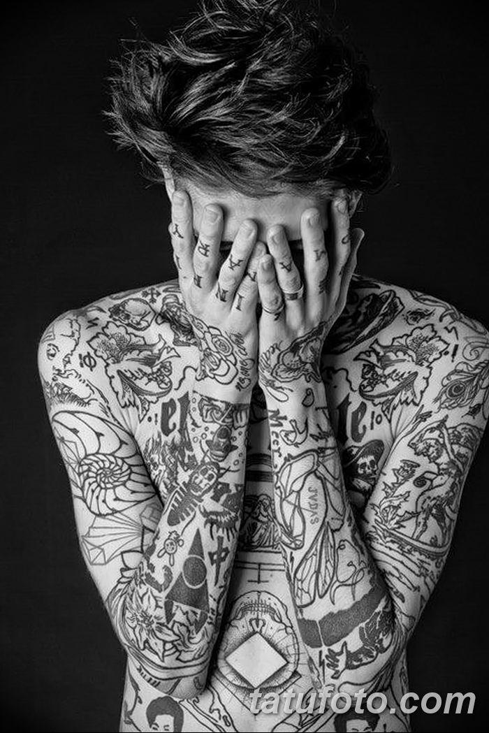 Фото черно-белые тату от 08.08.2018 №331 - black and white tattoos - tatufoto.com