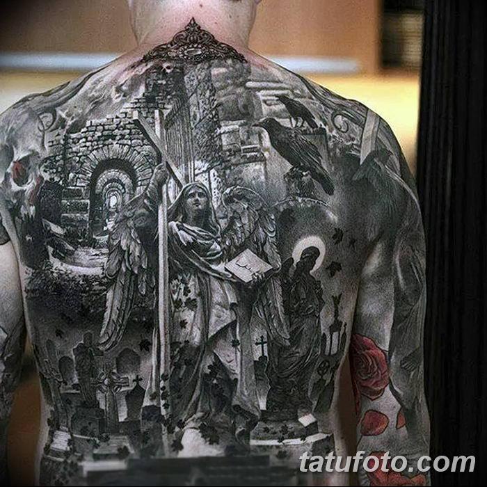 Фото черно-белые тату от 08.08.2018 №354 - black and white tattoos - tatufoto.com