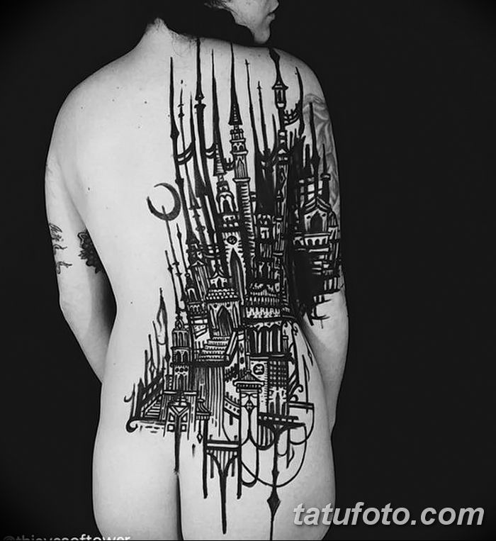 Фото черно-белые тату от 08.08.2018 №360 - black and white tattoos - tatufoto.com