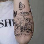Фото черно-белые тату от 08.08.2018 №372 - black and white tattoos - tatufoto.com
