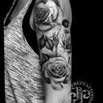 Фото черно-белые тату от 08.08.2018 №387 - black and white tattoos - tatufoto.com