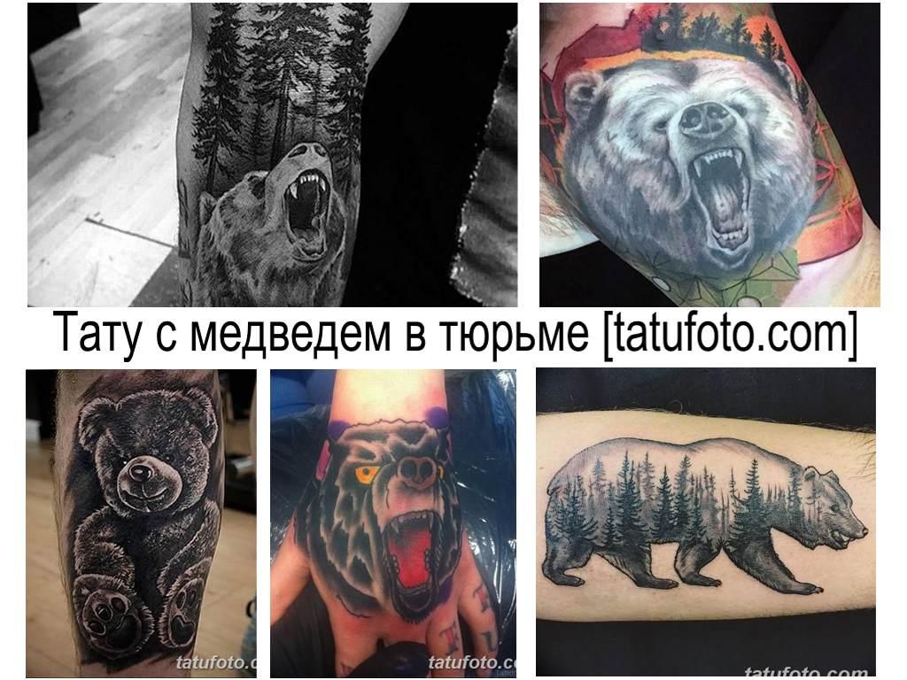 Значение тату с медведем в тюрьме - фото примеры интересных готовых рисунков татуировки медведь